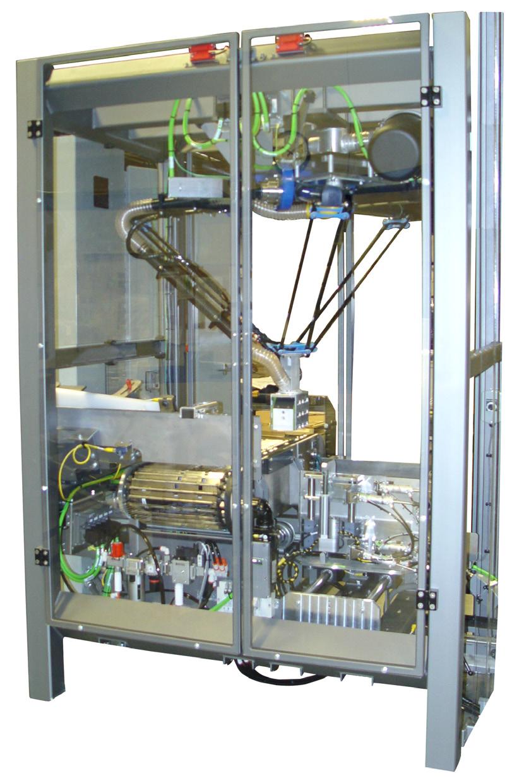 Подъемно-транспортная машина для вертикальной упаковки в ящики