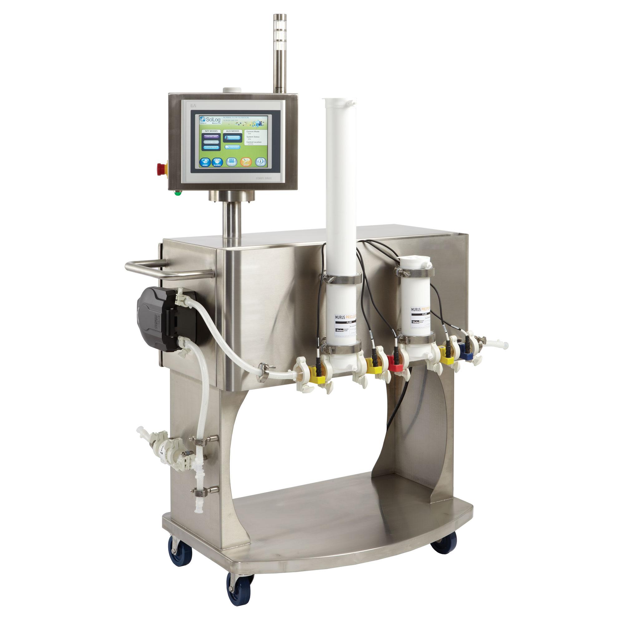 Полуавтоматическая система фильтрации при постоянном потоке