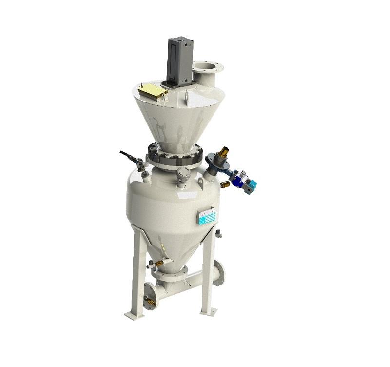 Пневматический транспортер для абразивных материалов