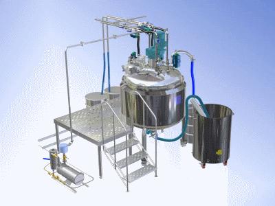 Плавители желатина и реакторы