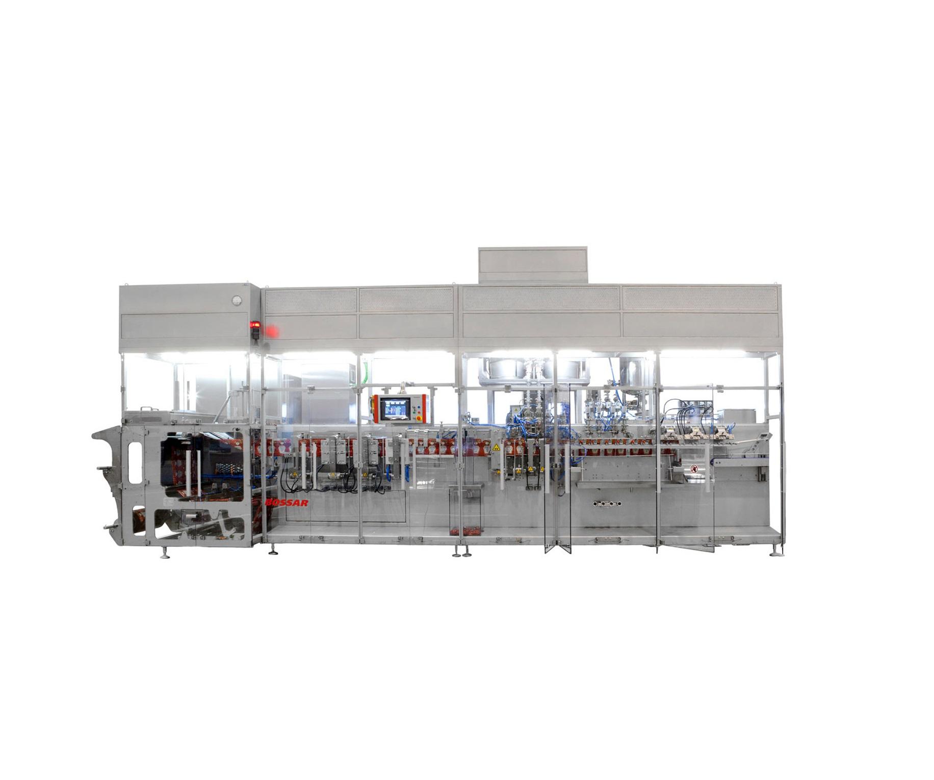 Модульная машина горизонтальной упаковки паучей