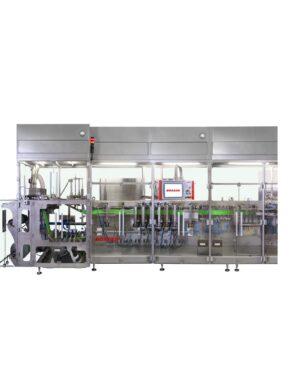 Горизонтальная упаковочная машина с системой сервоуправления