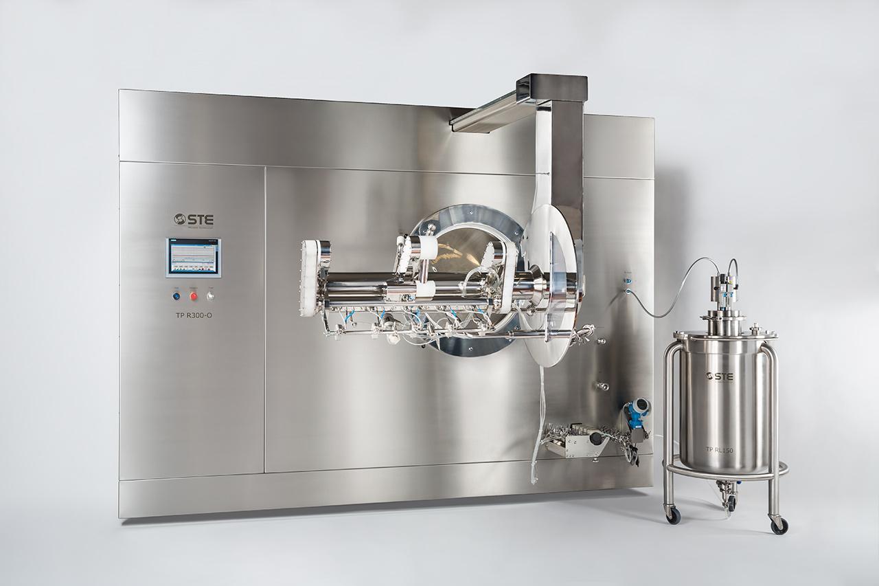 Уникальная машина нанесения пленочного покрытия (коутер) OPTIMA компании STE Tecpharm