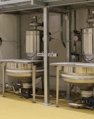 Системы разгрузки мешков для порошкообразных и гранулированных ингредиентов